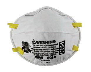 3M'Ñ¢ Standard N95 8210 Disposable Particulate Respirator With Adjustable Nose Clip - Meets NIOSH And OSHA Standards (20 Each Per Box)
