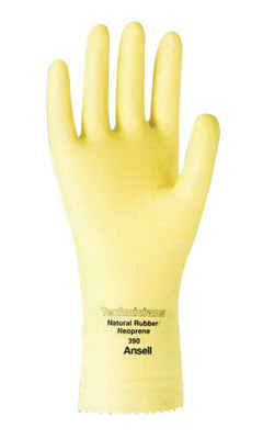 "Ansell Size 8 Natural Technicians'Ñ¢ 12"" 13 mil Unsupported Natural Rubber Latex And Neoprene Light Duty Chemical Resistant Gloves With Pebble Embossed Grip Finish And Pinked Cuff"