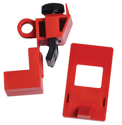 Brady® Red Impact Modified Nylon And Polypropylene 120/277 V Clamp-On Circuit Breaker Lockout