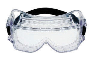3M 452 Centurion Impact Goggles With Clear Wrap-Around Frame And Clear Anti-Fog Lens