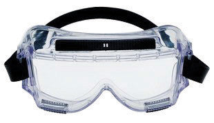 3M 454AF Centurion Splash Goggles With Clear Wrap-Around Frame And Clear Anti-Fog Lens