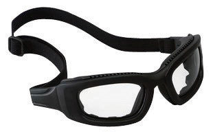 3M 2X2 Maxim Impact Goggles With Black Full Frame, Clear Anti-Fog Lens, Elastic Strap And Air Bladder Cushion