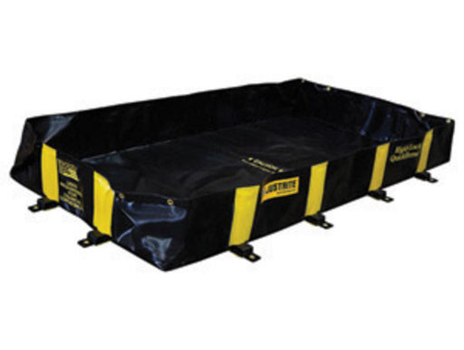 "Justrite Manufacturing Co 6' X 8' X 12"" QUICKBERM® Black And Yellow PVS Coated Fabric Rigid-Lock Spill Containment Berm With Spill Capacity Of 355 Gallons"