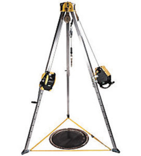 MSA 8' Workman® Tripod Confined Space Entry Kit (Includes 50' Workman Rescuer, 65' Workman Winch, Stainless Steel Cable, (2) Pulleys And (2) Carabiners)