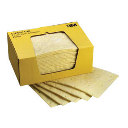 "3M'Ñ¢ 9 1/4"" X 14 1/2"" Yellow High Capacity Sorbent Pad (25 Per Box)"