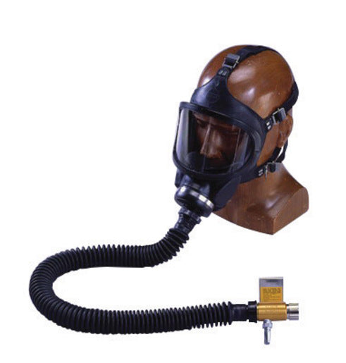 MSA Full Face Constant Flow Airline Respirator Assembly (Includes Black Medium Hycar Ultravue® Full Facepiece, Hose, Web Support Belt, Snap-Tite Aluminum Quick-Disconnect And High Pressure Control Valve)