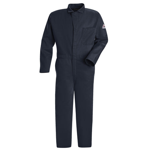 "Bulwark® 50"" Navy Cotton Flame Resistant Coverall With Zipper Closure"