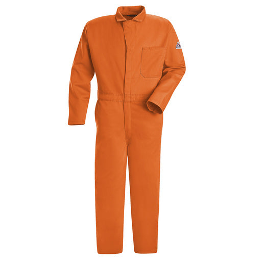"Bulwark® 54"" Orange Cotton Flame Resistant Coverall With Zipper Closure"