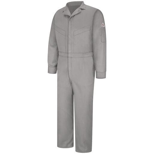 "Bulwark® 48"" Grey Cotton Excel FR® ComforTouch™ Nylon Flame Resistant Coverall With Zipper Closure"