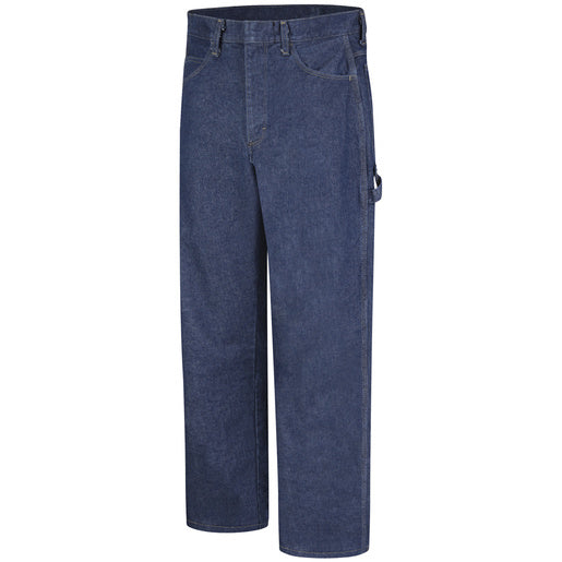 "Bulwark® 46"" X 32"" Blue Denim Cotton Flame Resistant Dungarees With Button Closure"
