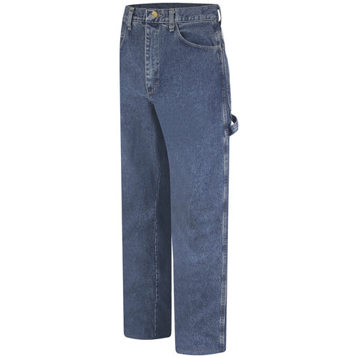 "Bulwark® 34"" X 32"" Stone Wash Cotton Denim Excel FR® Flame Resistant Jeans With Button Closure"