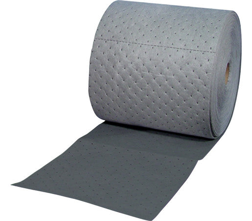 "Brady® 15"" X 150' SPC™ Gray 2-Ply Meltblown Polypropylene Dimpled Heavy Weight High Traffic Sorbent Roll, Perforated Lengthwise Every 5"" And Cross-Wise Every 18"""