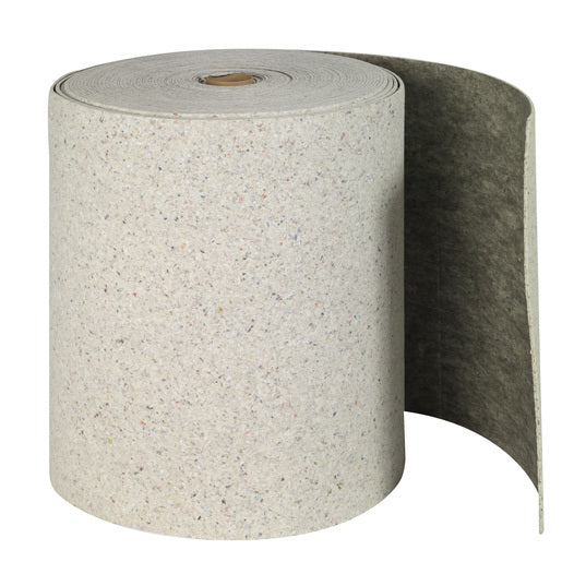 "Brady® 28 1/2"" X 150' SPC™ Re-Form™ Plus Gray Double Perforated Heavy Weight Sorbent Roll, Perforated Every 19"""