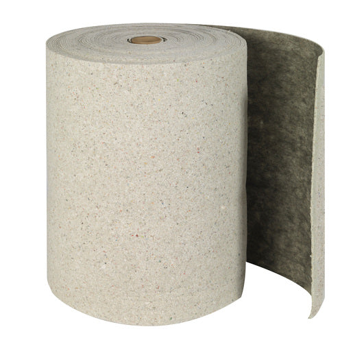"Brady® 28 1/2"" X 150' SPC™ Re-Form™ Plus Gray Double Perforated Medium Weight Sorbent Roll, Perforated Every 19"""