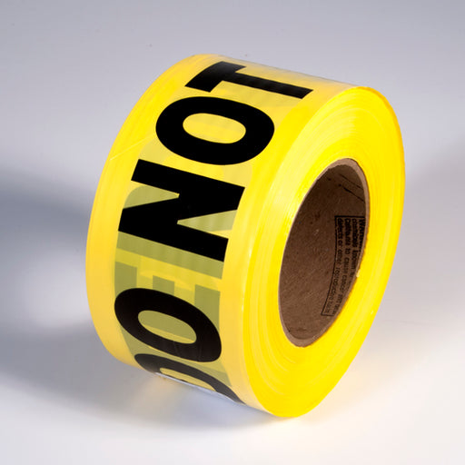 "Radnor® 3"" X 1000' Yellow 2 mil Barricade Tape ""Caution Do Not Enter"""