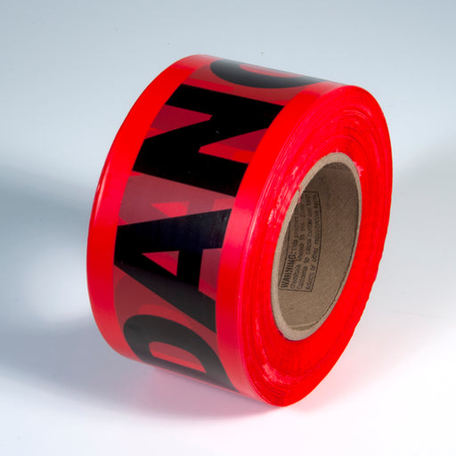 "Radnor® 3"" X 1000' Red 2 mil Barricade Tape ""Danger"""