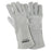 "Radnor® Large Pearl Gray 14"" Shoulder Split Cowhide Cotton Sock Lined Welders Gloves With Wing Thumb"
