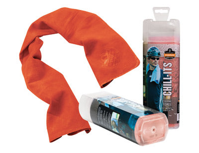 "Ergodyne 13"" X 29 1/2"" Orange Chill-Its® 6602 PVA Evaporative Cooling Towel"