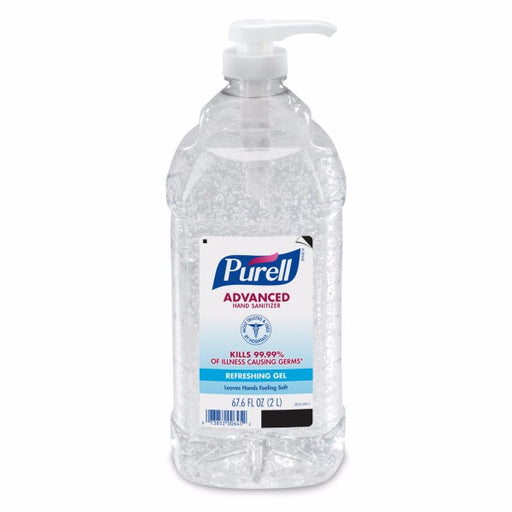 GOJO® 2 Liter Pump Bottle Clear Purell® Citrus Scented Advanced Instant Hand Sanitizer