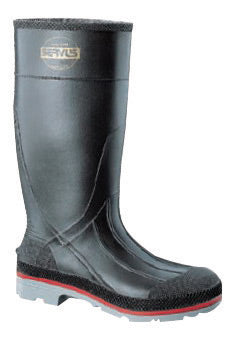 "Servus® By Honeywell Size 7 XTP™ Black 15"" PVC Knee Boots With TDT® Dual Compound Red And Gray Outsole And Removable Insole"