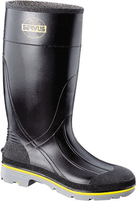 "Servus® By Honeywell Size 10 XTP™ Black 15"" PVC Knee Boots With TDT® Dual Compound Yellow And Gray Outsole, Steel Toe And Removable Insole"
