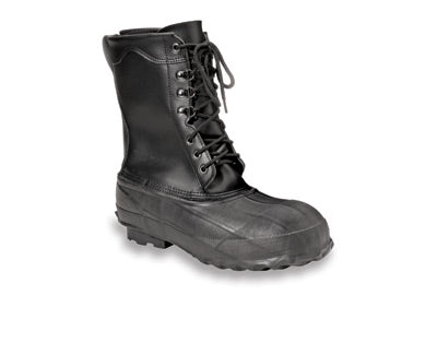 Servus by Honeywell Size 9 Servus® Black Insulated Leather And Rubber Safety Pac Boots With Steel Toe