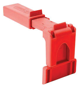 "North® by Honeywell Red Polypropylene B-safe Ball Valve Lockout (Fits 1 1/2"" - 2 1/2"" Valves)"
