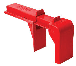 "North® by Honeywell Red Polypropylene B-safe Ball Valve Lockout (For 2"" - 8"" Valves)"