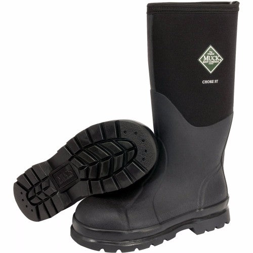 "Servus® by Honeywell Size 10 Muck® Chore Black 16"" Insulated Neoprene And CR Flex-Foam Boots With Vibram Outsole, Steel Toe, And EVA Sock Liner"