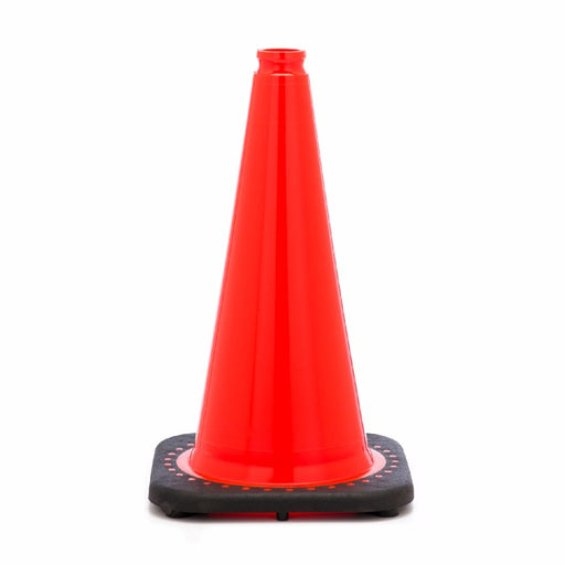"JBC'Ñ¢ 18"" Orange PVC Revolution Series 1-Piece Traffic Cone With Black Base"