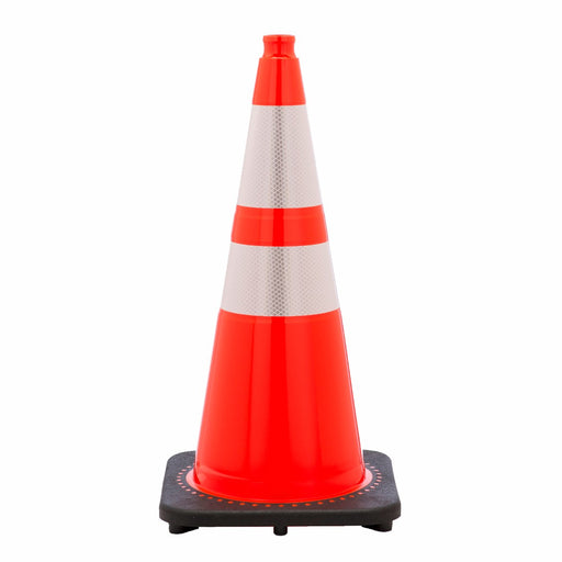 "JBC'Ñ¢ 28"" Orange PVC Revolution Series 1-Piece Traffic Cone With Black Base And 4"" And 6"" 3M'Ñ¢ Reflective Collar"