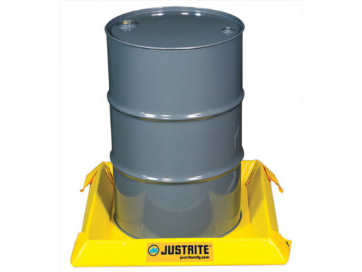 "Justrite® 2' X 2' X 4"" Yellow PVC Temporary Spill Containment Berm With 10 gal Spill Capacity"