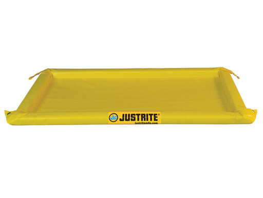 "Justrite® 2' X 4' X 2"" Yellow PVC Temporary Spill Containment Berm With 10 gal Spill Capacity"