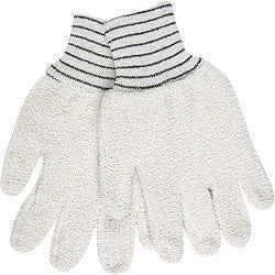 "Memphis Glove Small 5 3/4"" Natural 18 Ounce Regular Weight Cotton Polyester Blend Terry Cloth Heat Resistant Gloves With Straight Thumb And  2 1/2"" Knit Wrist"