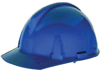 MSA Blue TopGard® Polycarbonate Cap Style Hard Hat With Fas Trac® Ratchet Suspension
