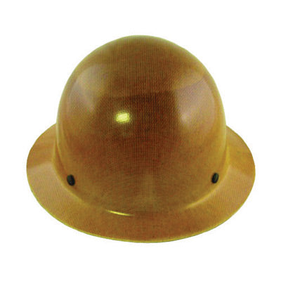 MSA Tan Skullgard® Phenolic Hard Hat With Fas Trac® Ratchet Suspension