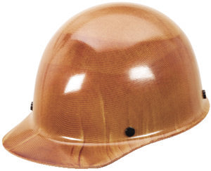 MSA Tan Skullgard® Phenolic Cap Style Hard Hat With SwingStrap™ 8 Point Ratchet Suspension