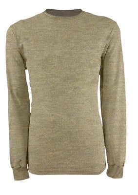 National Safety Apparel¨ 3X Tan 6.5 oz CARBONCOMFORT Flame Resistant Long Sleeve Henley Shirt
