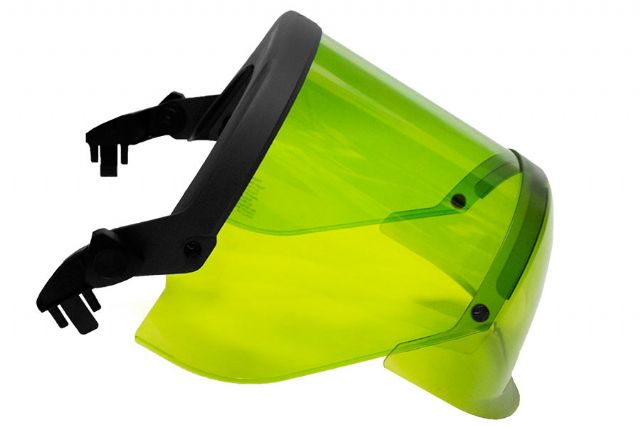 National Safety Apparel® ArcGuard® Green 12 cal/cm² HRC 2 Faceshield With Full Brim Adapter