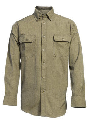 National Safety Apparel¨ 4X Tan 6 oz CARBONCOMFORT Flame Resistant Long Sleeve Work Shirt