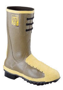 "Servus¨ By Honeywell Size 11 Ranger¨ Flex-Guard Olive 12"" Rubber Flexible Metatarsal Guard Lace Up Boots With Trac Tread Outsole, Steel Toe And Removable Insole"