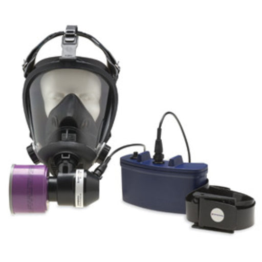 North® by Honeywell 5502 Series Medium Half Mask With 5-Point Headstrap, Battery And Blower