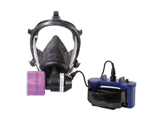 North® by Honeywell 5501 Series Large Half Mask With 5-Point Headstrap, Battery And Blower