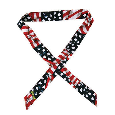 OccuNomix Wavy Flag MiraCool¨ Cotton Headband With Tie Closure
