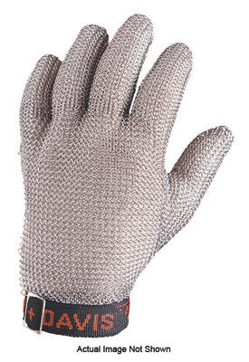 Honeywell X-Large Green Sperian Whiting + Davis Stainless Steel Ambidextrous Fully Enclosed Cut Resistant Gloves With Wrist Strap Cuff And Mesh Lined