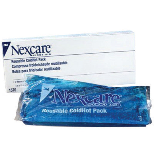 "3M'Ñ¢ 4"" X 10"" Nexcare'Ñ¢ Reusable Gel Cold or Hot Pack With Cover (2 Per Box)"