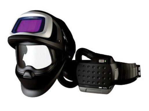"3Mª Adfloª Belt-Mounted Universal Lithium Ion High Efficiency PAPR System With Speedglasª 9100 FX-Air Welding Helmet And 5, 8 - 13 Shade 2.1"" X 4.2"" Speedglasª 9100XX Auto Darkening Filter"