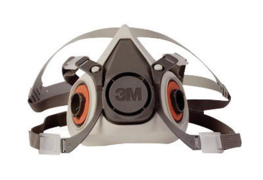 3M'Ñ¢ Small Gray Thermoplastic Elastomer Half Mask 6000 Series Reusable Standard Respirator With 4 Point Harness And Bayonet Connection