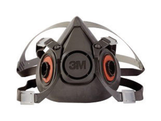 3M'Ñ¢ Large Thermoplastic Elastomer Half Mask 6000 Series Reusable Standard Respirator With 4 Point Harness And Bayonet Connection