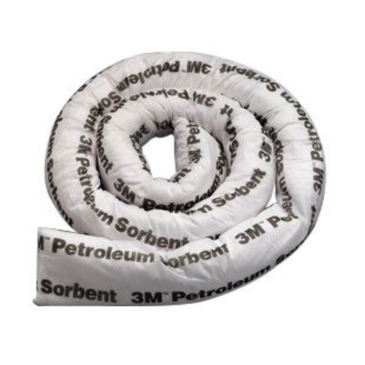 "3M'Ñ¢ 3"" X 8' White Polypropylene And Polyester Sorbent Mini-Boom"